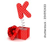 opened birthday party red white ...   Shutterstock . vector #354592433
