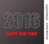 new year background with... | Shutterstock . vector #354624593