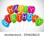 color glossy balloons... | Shutterstock .eps vector #354628613