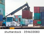 loading and unloading of... | Shutterstock . vector #354633083