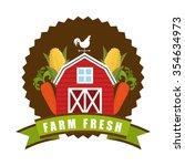 farm fresh design  vector... | Shutterstock .eps vector #354634973