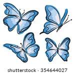 Blue Butterfly Illustration
