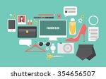 fashion blogging essential... | Shutterstock .eps vector #354656507