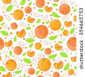 Seamless Pattern Of Oranges An...