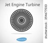 jet engine turbine front view   ... | Shutterstock .eps vector #354677033