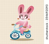 animal rabbit doing sports... | Shutterstock .eps vector #354692093