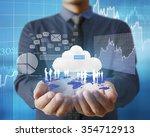 businessman with financial... | Shutterstock . vector #354712913