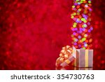 abstract glitter bokeh... | Shutterstock . vector #354730763