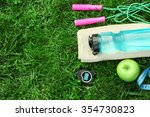 Sports Equipment On Green Gras...