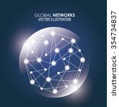 global  communication concept... | Shutterstock .eps vector #354734837