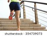 young fitness woman runner... | Shutterstock . vector #354739073