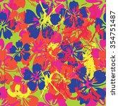 summer  hawaiian seamless... | Shutterstock .eps vector #354751487