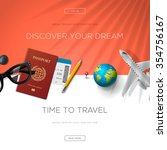 tourism website template  time... | Shutterstock .eps vector #354756167