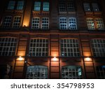 windows on a brick wall a old... | Shutterstock . vector #354798953