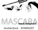 mascara. beauty and cosmetic ... | Shutterstock .eps vector #354800207