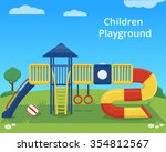 Vector Children Playground On...