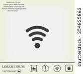 wi fi  web icon. vector design | Shutterstock .eps vector #354825863