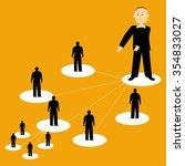 Flat Illustration Of Network...