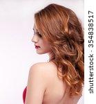 portrait of a beautiful girl... | Shutterstock . vector #354838517