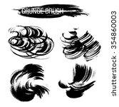vector set of grunge brush...   Shutterstock .eps vector #354860003