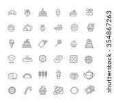 bakery icon set | Shutterstock .eps vector #354867263