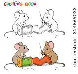 coloring book or page. one... | Shutterstock .eps vector #354869033