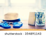 objects for travel isolated on... | Shutterstock . vector #354891143
