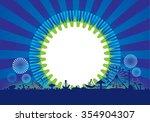 vector of amusement park with... | Shutterstock .eps vector #354904307
