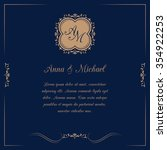 invitation card with monogram... | Shutterstock .eps vector #354922253