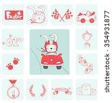 illustration of rabbit champion ...   Shutterstock .eps vector #354931877