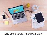 business desk concept   credit... | Shutterstock . vector #354939257