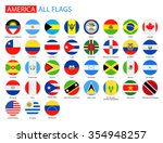 flat round flags of america  ... | Shutterstock .eps vector #354948257