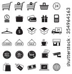 set of shopping icons vector... | Shutterstock .eps vector #354964163