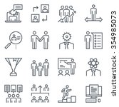 corporate business icon set... | Shutterstock .eps vector #354985073