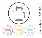 printer line icon | Shutterstock .eps vector #354988643
