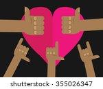 vector hand   Shutterstock .eps vector #355026347
