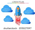 infographic  rocket and clouds  ... | Shutterstock .eps vector #355027097