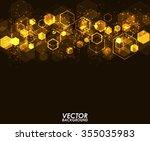 abstract orange modern...   Shutterstock .eps vector #355035983