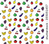 fruits and vegetables  vector... | Shutterstock .eps vector #355051457