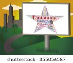 pantomime star showing... | Shutterstock . vector #355056587