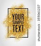 gold background for flyer ... | Shutterstock .eps vector #355061237