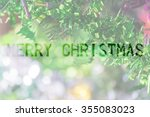 christmas tree decoration for... | Shutterstock . vector #355083023