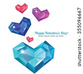 valentine's day abstract... | Shutterstock .eps vector #355096667