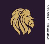 Lion Head Logo Or Icon In One...