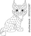 lynx coloring page | Shutterstock .eps vector #355152287