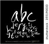 alphabet   number   hand drawn... | Shutterstock .eps vector #355190033