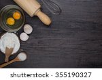 Wooden Background With Baking...