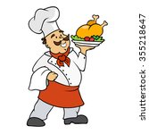 cartoon chef vector... | Shutterstock .eps vector #355218647