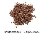 Pile Of Roasted Coffee Beans...