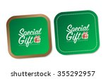 special gift stickers | Shutterstock .eps vector #355292957